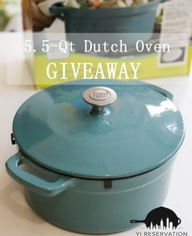 cast iron dutch oven giveaway ($99 value)